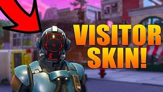 NEW BLOCKBUSTER SKIN GAMEPLAY! VISITOR SKIN & OFFWORLD RIG!!! (Fortnite Battle Royale)