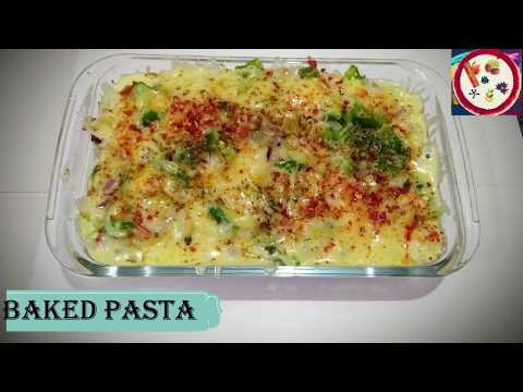 yummy-baked-pasta-|-creamy-&-cheesy-baked-pasta-|-baked-veggie-pasta-without-oven-|