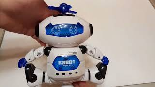 Танцующий робот из Gamiss. 360 Degree Rotation Dancing Music Light Electric Robot Toy. ZTD#302