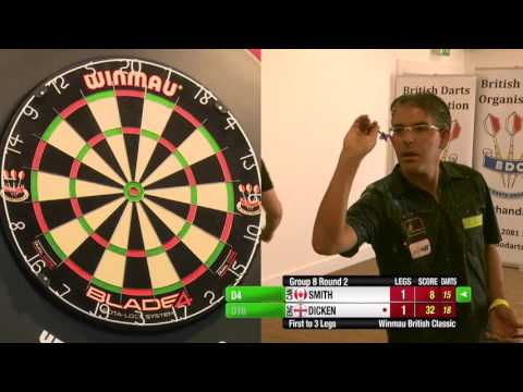 Darts British Classic 2015 Round 2 Jeff Smith vs Matt Dicken