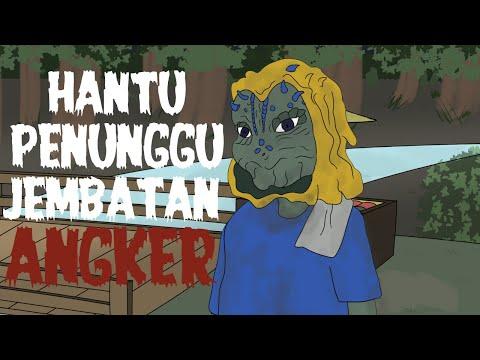 Hantu penunggu jembatan angker - kartun hantu lucu - kartun horor