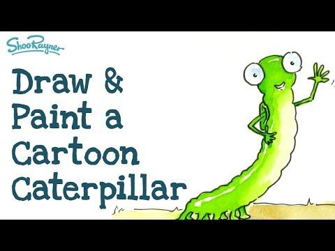 How to draw a Cartoon Caterpillar   Illustration Tutorial thumbnail
