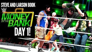 TAG TEAM CHAOS ERUPTS AT MONEY IN THE BANK! Steve and Larson Book Money In The Bank Pt. 1