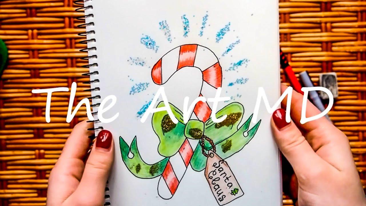 Открытки на новый год своими руками простые карандаши, радужные рисунки картинки
