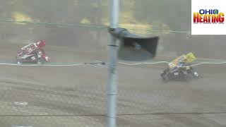 Ohio Valley Sprint Car Heat #2 from Atomic Speedway, August 3rd, 2019.