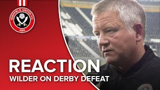Chris Wilder's Derby reaction