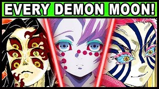 All 12 Demon Moons and Their Powers Explained! (Demon Slayer / Kimetsu no Yaiba Every Kizuki)