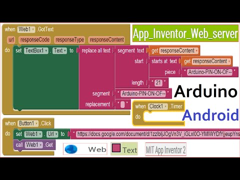 Arduino Android App Inventor Web Server AI2 сервер Tutorial Ethernet Shield