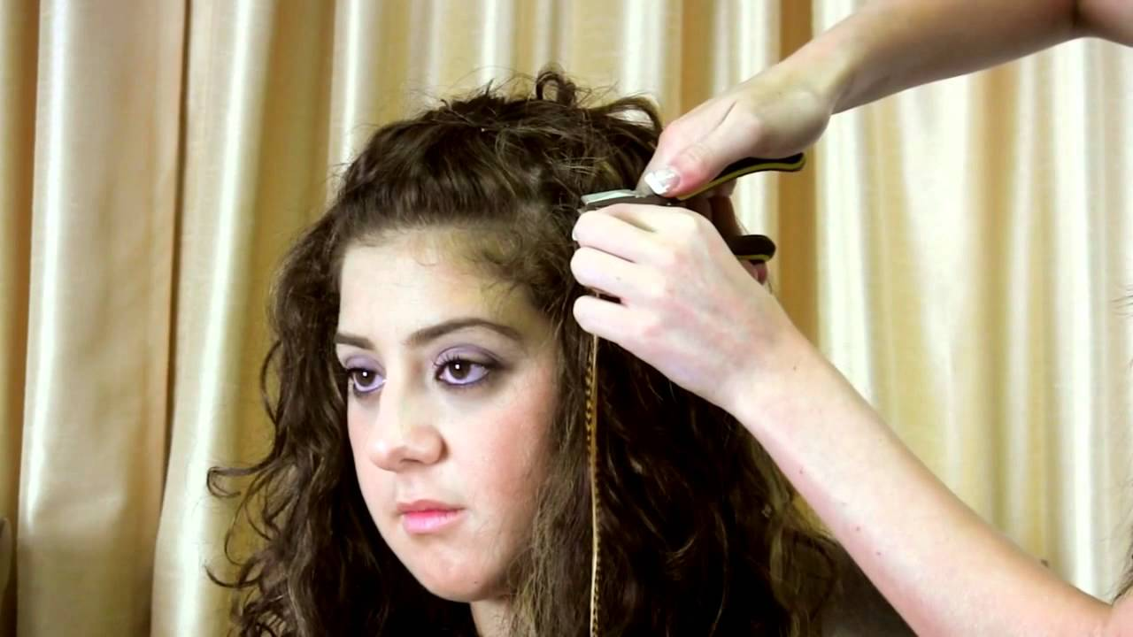 How To Remove Feather Hair Extensions Youtube