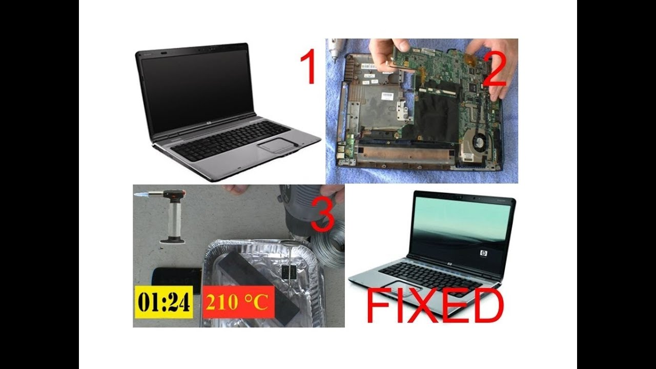 hp pavilion reflowing gpu fix screen problems part 1. Black Bedroom Furniture Sets. Home Design Ideas