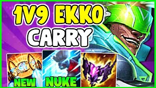 HOW TO PLAY EĶKO MID & SOLO CARRY IN SEASON 12 | Ekko Guide S12 - League Of Legends