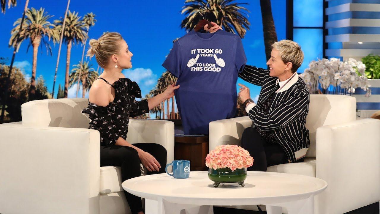 Kristen Bells Sweet 60th Birthday Present For Ellen