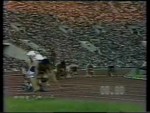 MOSCA 1980 FINALE SUI 200 METRI MENNEA CON TELECRONACA RAI DI PAOLO ROSI