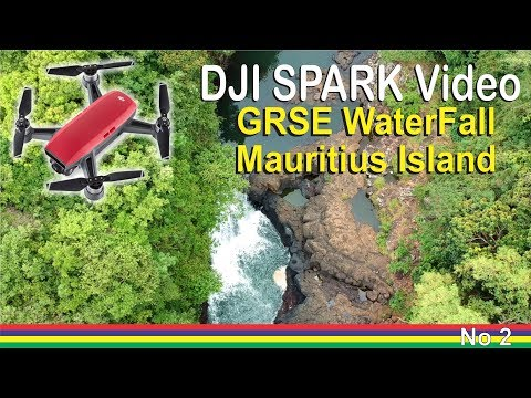 DJI Spark Drone Video - GRSE Waterfall - Deux Freres - Mauritius