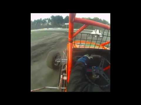 Dan Douville #7x Wingless In-Car | Sprint Cars of New England at Bear Ridge Speedway 8-30-2014
