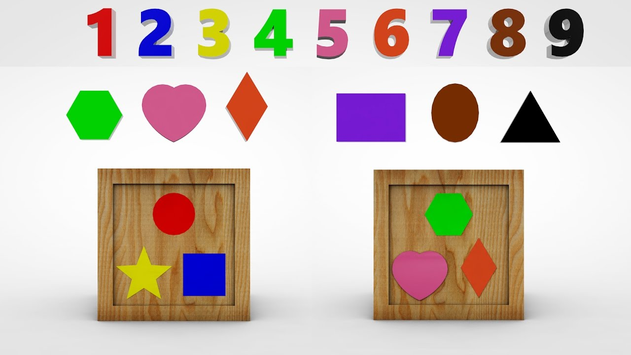 Math Learning Charts : Colors, Numbers, Shapes, Money, Ordinal Numbers