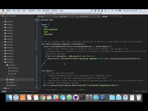 Building Web Pages Using The Html/template Package (Episode 14)