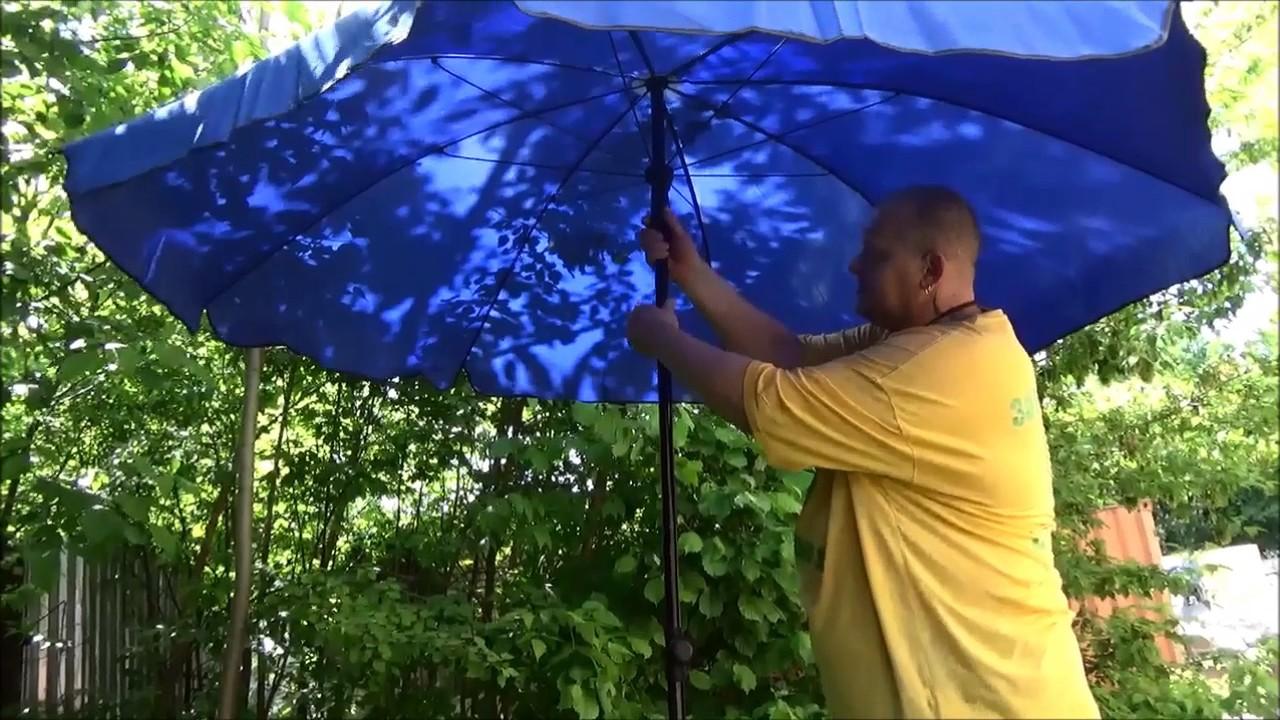 Делаем дачный зонтик своими руками - YouTube