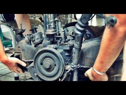 VW Brasília 1976 ``Cremosa´´ #14 - Retirando o motor antigo