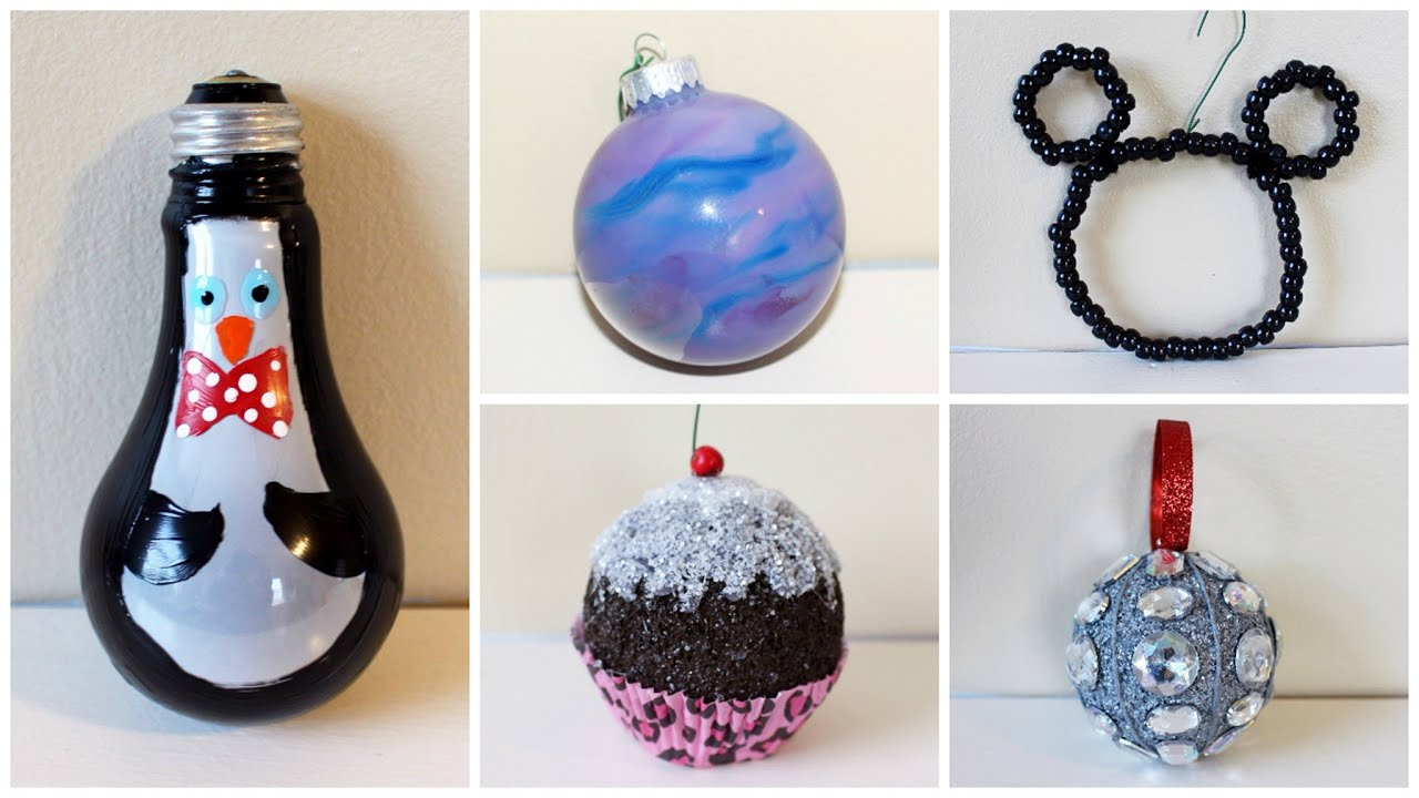 SEVEN CHEAP AND EASY DIY CHRISTMAS ORNAMENTS | 2015 - YouTube
