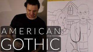 Grant Wood | How To Draw American Gothic