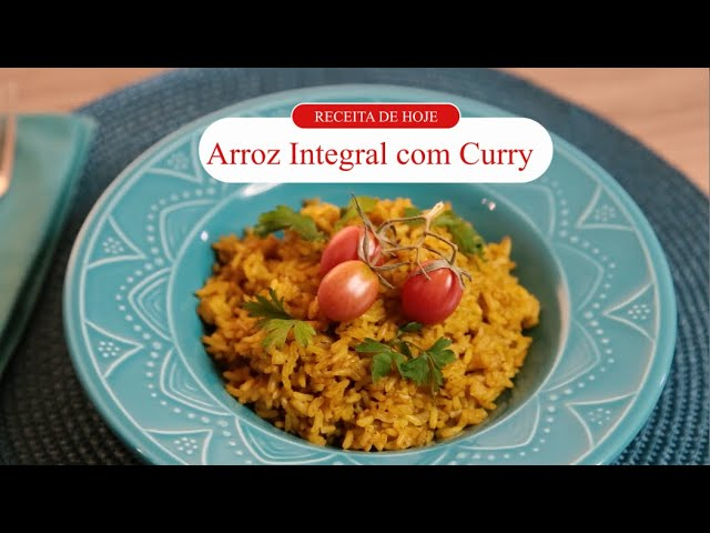Receitou - Arroz integral com curry