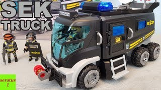 Playmobil SEK Truck 9360 auspacken seratus1 Spezialeinsatzkommando
