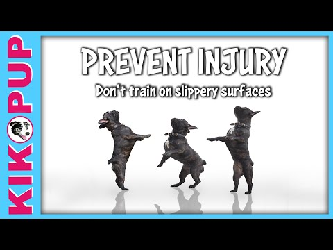 Prevent injury - Don't train on slippery surfaces