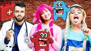 يويو ودودي مقلب العقرب في الحلوى وطبيب الاسنان  - yoyo dodi dentist