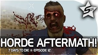 7 days to die xbox one gameplay part 12 horde aftermath close calls
