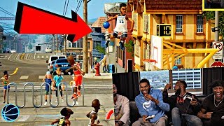 KARL ANTHONY TOWNS AND RONNIE2K VS CASHNASTY AND STAXMONTANA NBA PLAYGROUNDS 2 FUNNY MOMENTS!