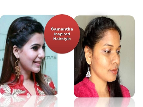 6122f6a499a00c Actress Samantha inspired hairstyle tutorial  Quick party hairstyle   Starnaturalbeauties