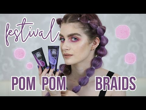 festival-hair-style:-pom-pom-/-bubble-braids-with-l'oréal-hair-makeup-|-raquel-mendes