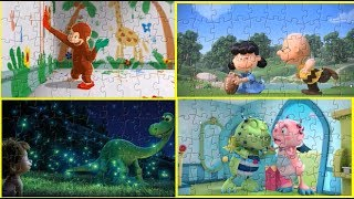 Curious George Henry Hugglemonster The Good Dinosaur The Peanuts Movie Puzzle Games For Kids