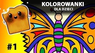 KOLOROWANKI dla dzieci czyli Motyl - Kolorowanki online