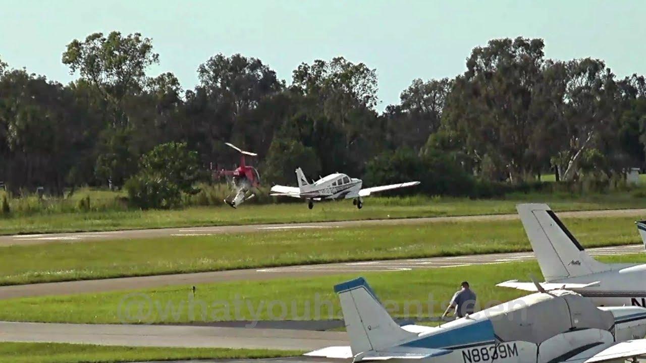 Midair Collision: Piper Cherokee vs  Robinson R22 Helicopter (Florida, 2017)