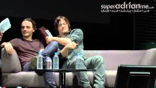 Video Andrew Lincoln & Norman Reedus Funny Moments in Singapore 00 09 09 00 09 50 download MP3, 3GP, MP4, WEBM, AVI, FLV Juli 2018