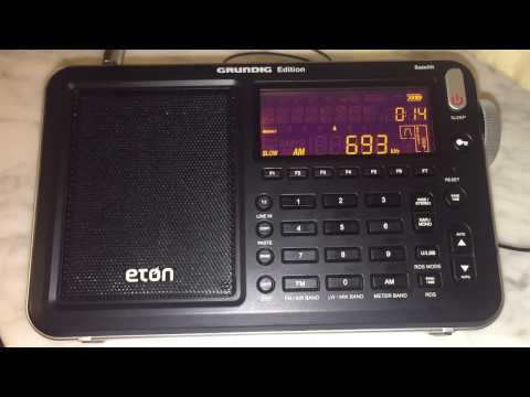 BBC Radio 5 Live 693 kHz heard in Genoa, Italy with very clear signal on the Eton Satellit