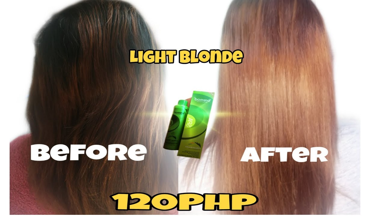 Diy Light Blonde 8 0 Bremod 120php My Mama S Hair Color No Bleach Youtube