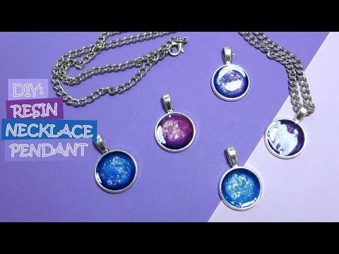 DIY: Resin Necklace Pendant | Galaxy Pendant