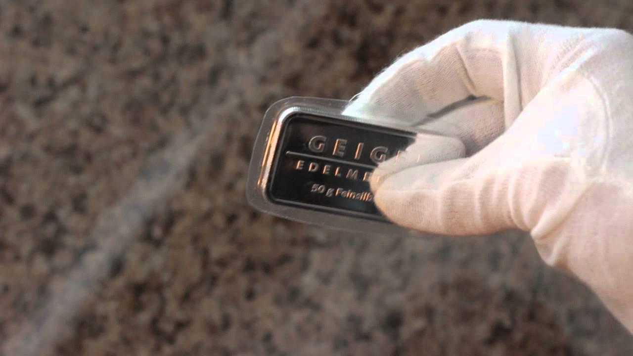 50 Gram Silver Bar Geiger Edelmetalle