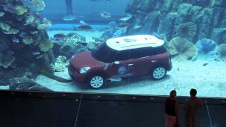 Mini Car parked in Dubai Aquarium