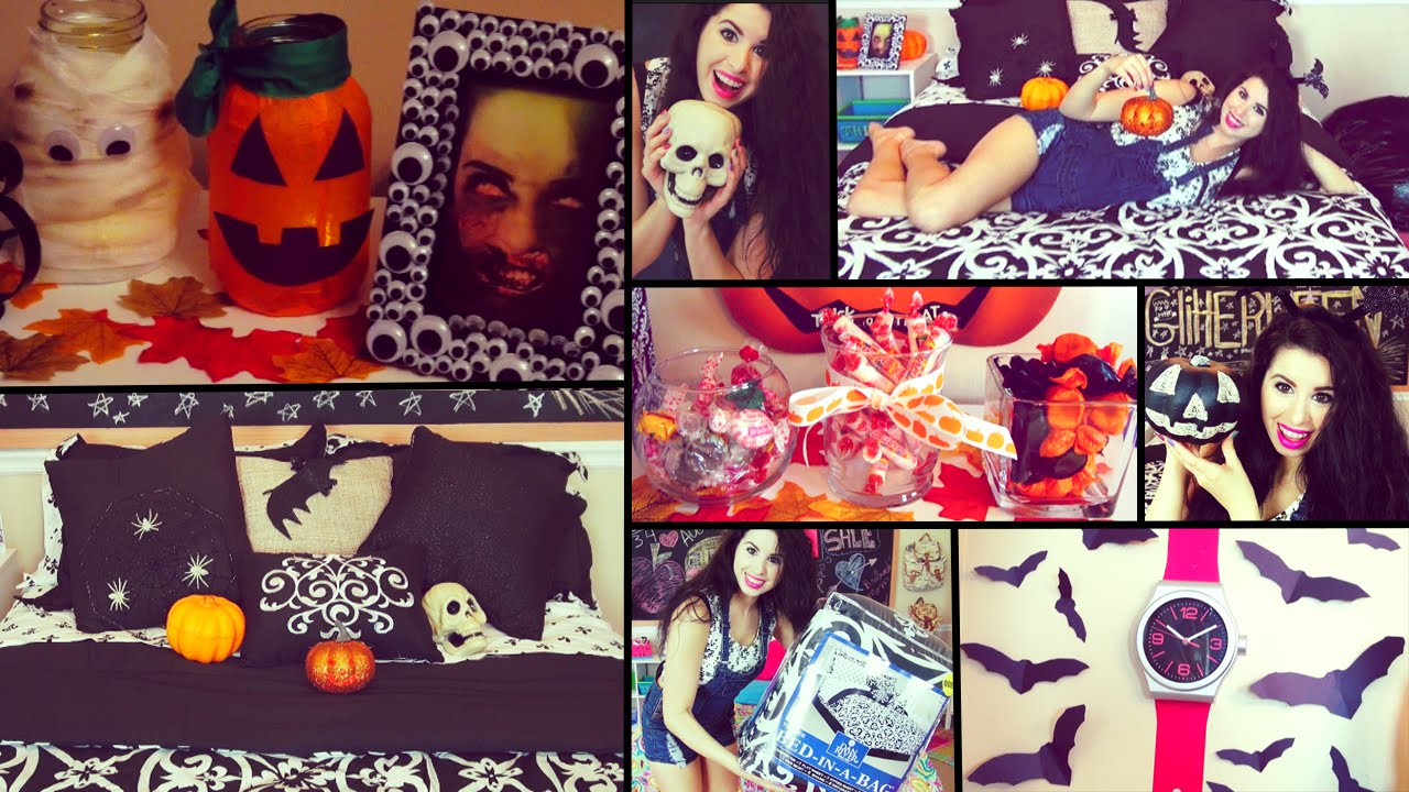diy halloween room decor fall organization youtube - Halloween Room Ideas