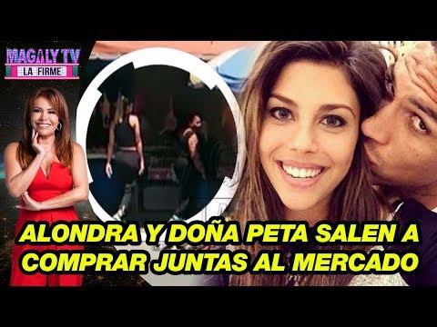 Alondra García Miró y Doña Peta ya no se ocultan y salen a comprar juntas al mercado