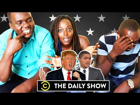 Africans (Ugandans) React to 'The Daily show on Donald Trump'