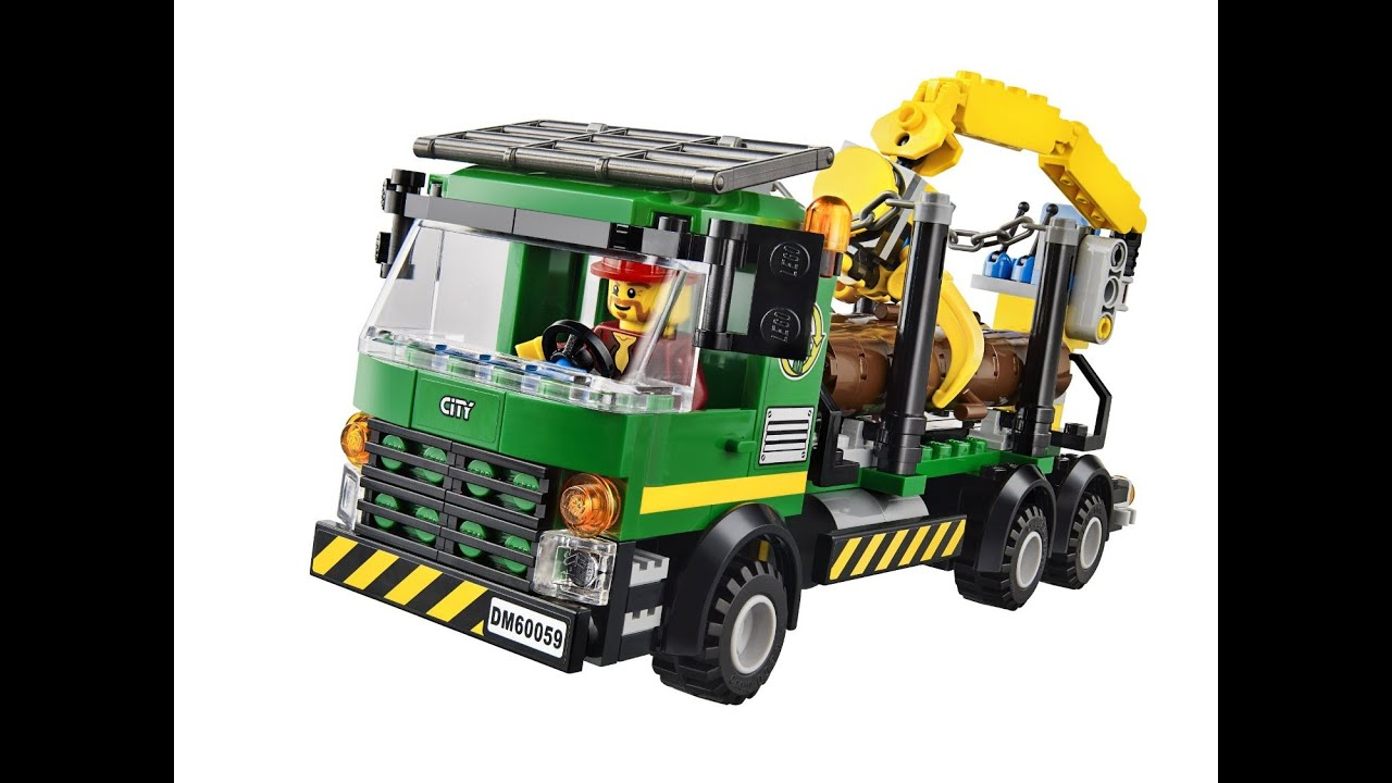Lego city le camion forestier lego jouets pour enfants youtube - Lego city police camion ...
