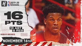 Jimmy Butler Full Highlights vs Pelicans (2019.11.16) - 16 Pts, 13 Ast, 8 Reb!