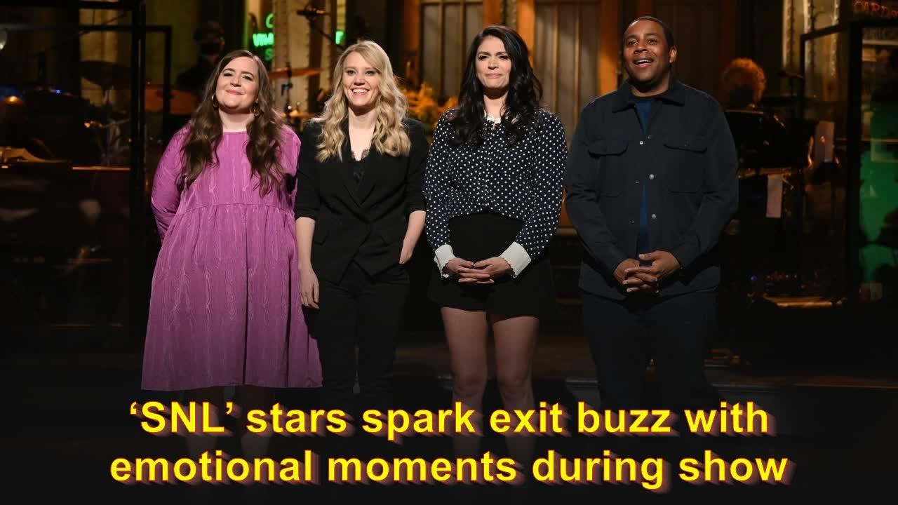 'SNL' stars spark exit buzz with emotional moments during show