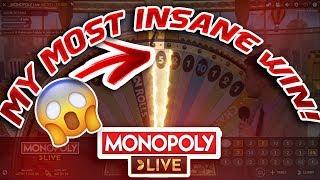MY BIGGEST GAMBLING WIN EVER! - MONOPOLY LIVE GAMBLING