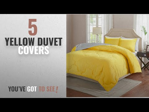 Top 10 Yellow Duvet Covers [2018]: Comfort Spaces – Vixie Reversible Down Alternative Comforter